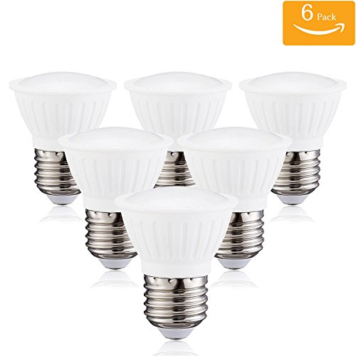 (Pack of 6)PAR16 LED Dimmable Flood Light Bulbs 7Watt E26 Short Neck 120V AC 70W Halogen Replacement 120 Degree Beam Angle Daylight White 5000K