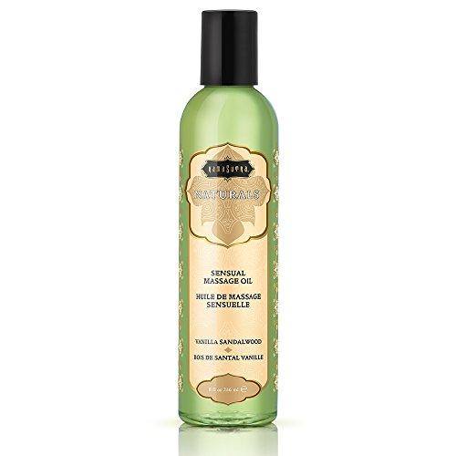 Full Body Sensual Massage - Kama Sutra Naturals Massage Oil Vanilla Sandalwood, 8 Fluid Ounce
