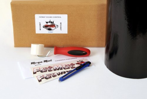 FatMat Self-Adhesive BLACK Butyl MegaMat Sound Deadener Bulk Pack with Install Kit - 25 Sq Ft x 70 mil Thick