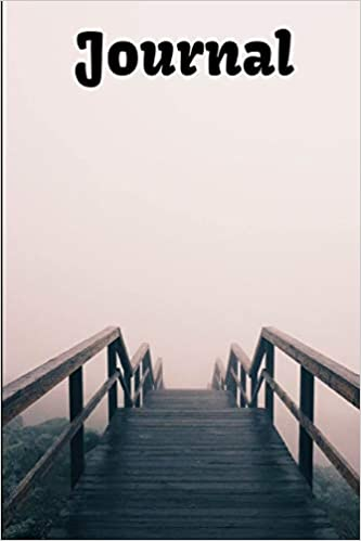 Amazon.com: Journal: Wooden Staircase Disappearing Into Fog ...