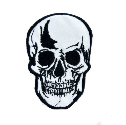 Death Skull Reaper Patch Iron on Applique Alternative Clothing Sons of Anarchy ()