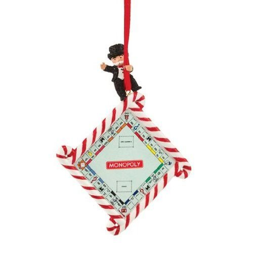 Department 56 Hasbro Monopoly Game Board Ornament, 3.5 inch (56 Monopoly)