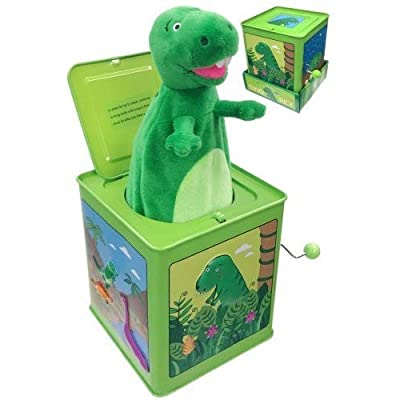 Back to Basics Dinosaur Jack in The Box Little Rex (Includes One): Toys & Games [5Bkhe0412171]
