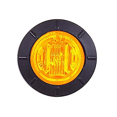 "Maxxima M09400YCL Amber 1-1/4"" Round LED Clear Lens Clearance Marker Light: Automotive"