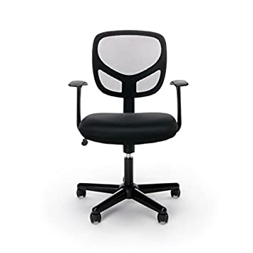 Essentials Swivel Mid Back Mesh Task Chair with Arms – Ergonomic Computer Office Chair ESS-3001