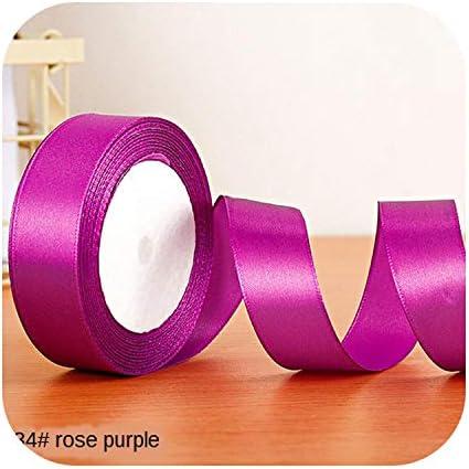 kawayi-桃 22メートル/ロールサテンリボン卸売ギフトパッキングクリスマスの装飾手作りdiyリボンロール生地(6/10/12/15/20/25 / 40mm)-purple red-10mm