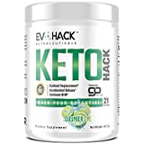 KETOHack Keto Diet - Fat Burner Appetite Suppressant for Ketogenic Diet Weight Loss - BHB Ketosis Supplement with Exogenous Ketones for Mental Focus Clarity - 21 Powder Scoops (Cucumber Lime)