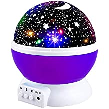 Star Projector Light, Moon Sky Night Light Star Light Rotating Projection Lamp Party Favor Gifts for 3-12 Year Old Girls Boys Toys Age 3-12 Christmas Gifts Purple