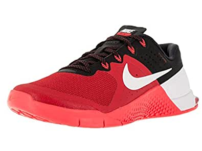 Nike Mens Metcon 2 Synthetic Umvrsty Rd/Wht/Brght Crmsn/Blc Trainers - 7 D(M) US