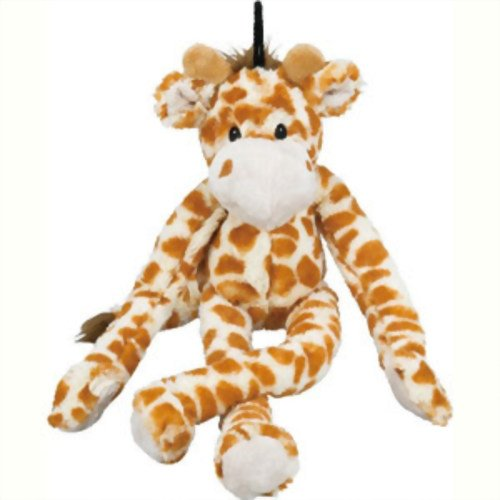Multipet Swingin 19-Inch Large Plush Dog Toy with Extra Long Arms and Legs with Squeakers -