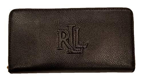 Lauren Ralph Lauren Women's Pebbled Leather Accordion Zip Around Wallet Clutch - Lauren Zippered Ralph