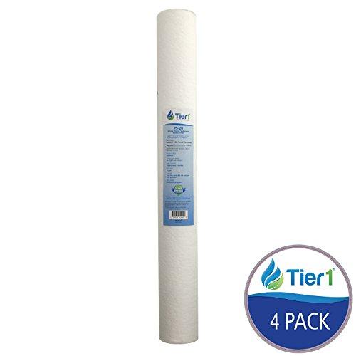 Wound Polypropylene Filter (Tier1 P5-20 5 Micron 20 x 2.5 Spun Wound Polypropylene Sediment Pentek Comparable Replacement Water Filter 4 Pack)