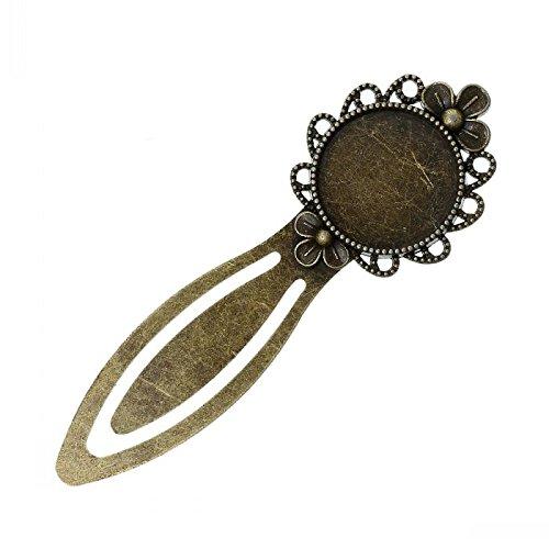 - Craft Accesories - Diy Crafts Metal Collection Bookmarks Round Antique Bronze 8 3cm X 2 8cm 5pcs - Accessories Shoppe Storage