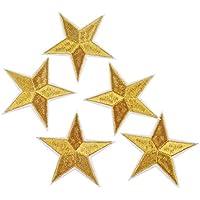 10 parches termoadhesivos estrella dorada bordada para ropa