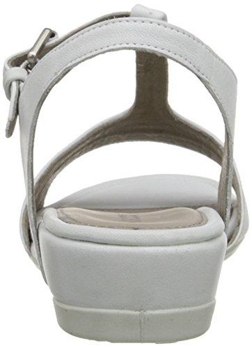 Ecco TOUCH 25 S Damen T-Spangen Sandalen Weiß (WHITE/WHITE 50874)