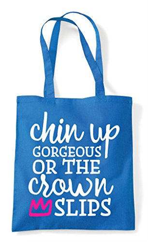 Tote Sapphire Up Slips Or Shopper The Bag Crown Gorgeous Chin Ygxzpg