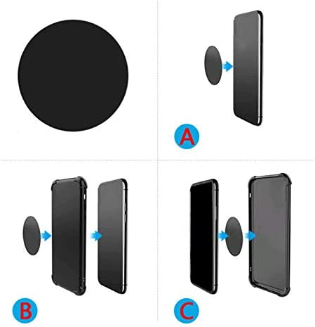 Magnetic Mount Car Mount Magnet-12X Round Black Mount Metal Plate(12Pack) for Magnetic Car Mount Phone Holder with Full Adhesive for Phone Magnet