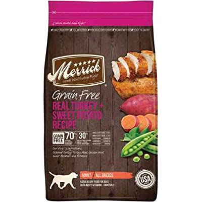 Merrick Grain Free Real Turkey Sweet Potato Recipe Dry Adult Dog Food (4 lb)