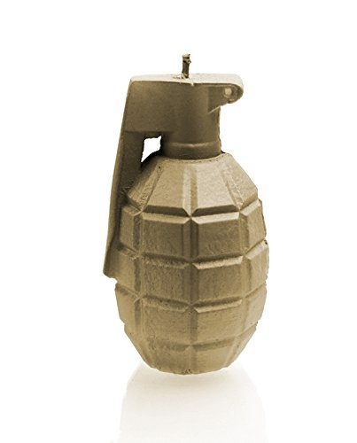 Candellana Candles 5902650670037 Large Grenade Candles, Golden Brown Large Grenade