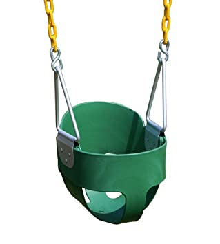 Eastern Jungle Gym Heavy Duty High Back Full Bucket Toddler Swing Seat With Coated