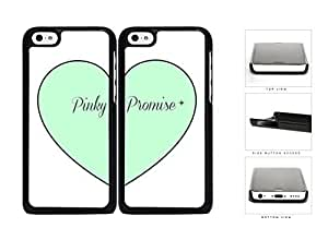 Mint Heart Pinky Promise Best Friends Set Hard Plastic Snap On Cell Phone Case Apple iPhone 5c