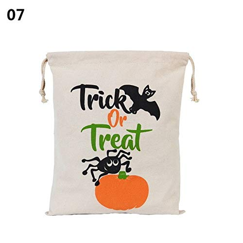 Lindsie-Box - 1Pcs Canvas Cotton Halloween Drawstring Child Personalized Candy Pumpkin Party Gift Pouch Bag Sacks 36x48cm Hot Selling