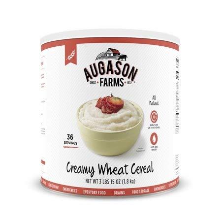 Augason Farms Creamy Wheat Cereal 3 lbs 15 oz No. 10 Can ()