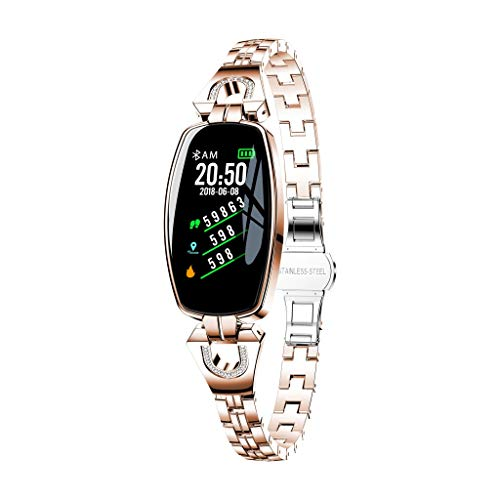 Ansenesna Watch Bands for Men Women H8 Color Screen Blood Pressure/Heart Rate Monitor Smart Bracelet Watch Pedometer (Rose Gold)