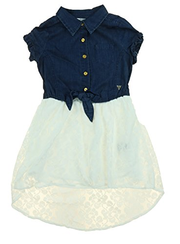 Guess Denim and Lace Dress with tie front and high low skirt design (Size - Guess Outlet Store