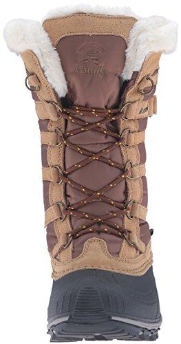 tan Stivaletti Braun Boots e Kamik Marrone Lined Snowvalley tan Warm pnwUOxq1g