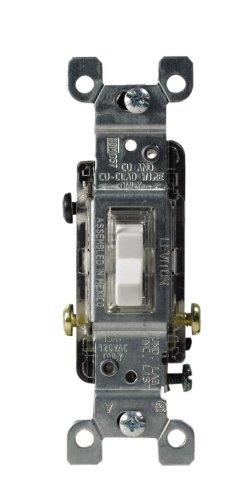 (Leviton L30-01461-GLW C24-01461-Glw Heavy Duty Toggle Switch, 120 V, 15 A, 1 P,)