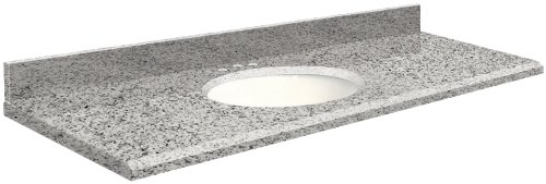 Samson G6122-F4-E-W-8C Granite Vanity Top 61x22 with Sing...