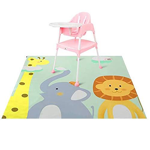 Splat Mat, Zicac Large High Chair Mat for Floor Anti-slip Ba