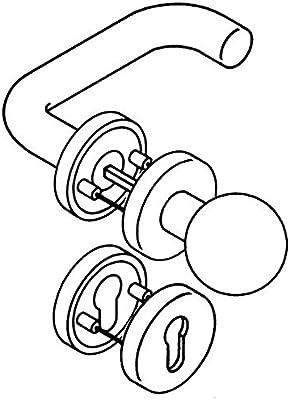 Rosetten-Dr/ückergarnitur 111R//123.23R//305.R//306.23 PZ TS38,1-48mm rubinrot