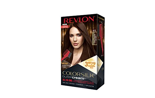 Revlon Colorsilk Buttercream Hair Dye, Dark Soft Mahogany Brown, 1 Count