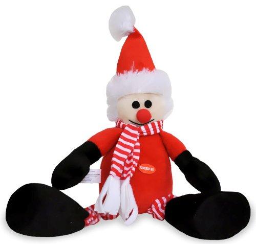 Zanies Plush and Squeaker Kringle Club Dog Toy, Santa