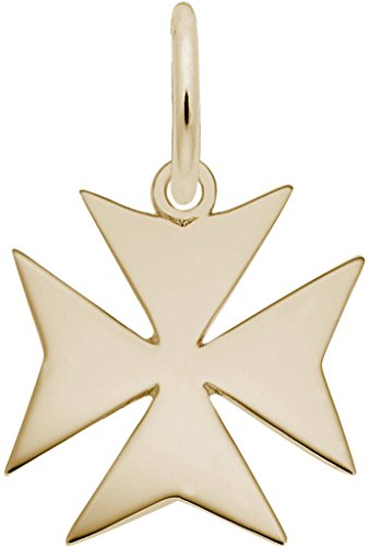 Rembrandt Maltese Cross Charm - Metal - Gold-Plated Sterling Silver