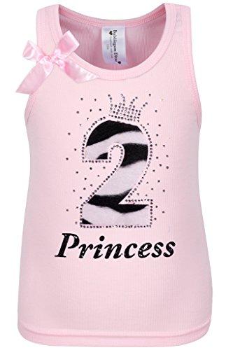 Bubblegum Divas Baby Girls 2nd Birthday Pink Zebra Print Animal Shirt 24mos