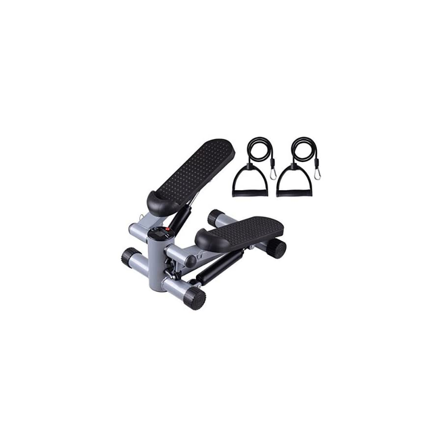 Mini Twister Stair Stepper w/ Bands Black