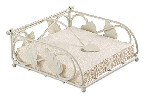 Ambiente Napkin Holder Leaves Design Cream For 33 x 33cm Paper Napkins (Folded)