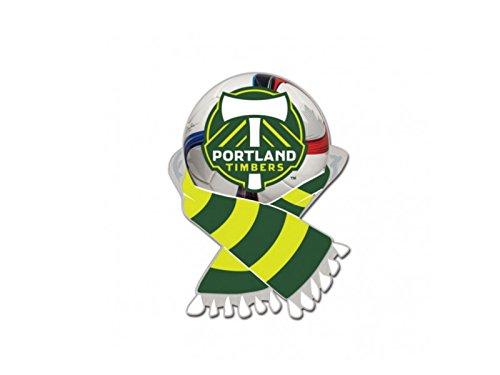 (Wincraft Portland Timbers MLS Green & Moss Green Soccer Scarf Metal Lapel Pin)