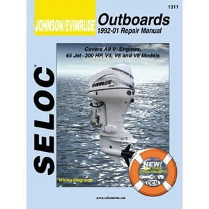 Johnson Evinrude Outboard, V4, V6, & V8, 1992-2001 Repair Manual (1997 Outboard Repair Manual)
