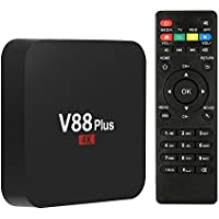 V88 Puls TV Box with Android 6.0 Set Top Box RK3229 Quad-Core Smart 4K Ultra HD 1G/8G 64Bit Set Top TV Box with WiFi HDMI DLNA