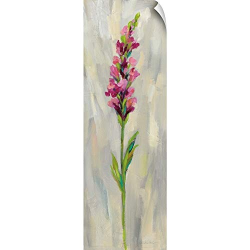 "CANVAS ON DEMAND Single Stem Flower IV Wall Peel Art Print, 12""x36"""