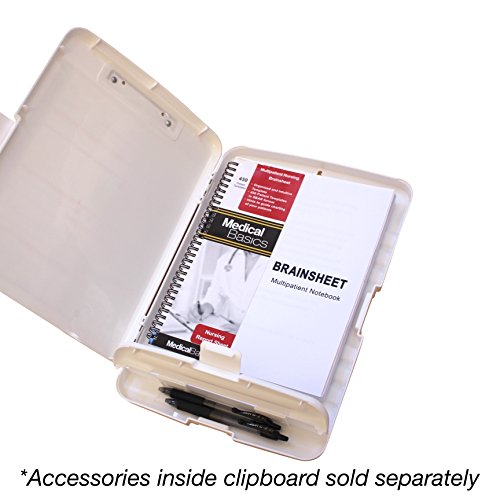 Nursing Storage Clipboard with Quick Medical Reference - Clipboard for Nurses, Nursing Students, CNA, and Nurse Practitioners