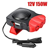 Portable Car Heater,Car Heater That Plugs Into Cigarette Lighter 12V 150W Car Heater Fast Heating Quickly Defrosts Defogger