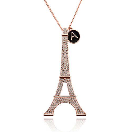 Women's Pendant Snake Chain Necklace Eiffel Tower Shaped Rose Gold Plated Gift Wedding Jewelrys - Single Roller Coaster Costume