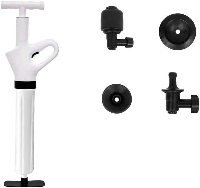 WC-Verstopfung leistungsstarke Druckluft strapazierf/ähig Hochdruck-Abflussreiniger Huiben Sp/ülbecken- und WC-Abflussreiniger Wei/ß
