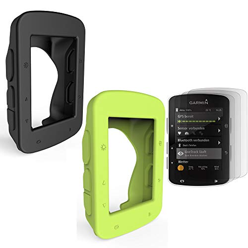 [2-Pack] TUSITA Protective Cover for GarminEdge520 Plus/Edge 820, Replacement Silicone Skin Case with Screen Protector for Garmin GPS Bike Computer