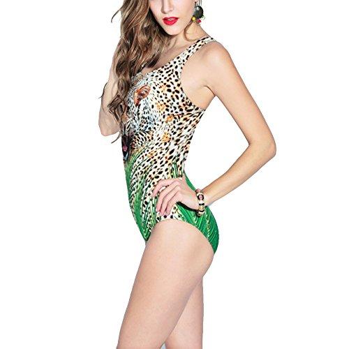 Beach Vintage Spa Mare Ragazze Interi Lady Costumi Estivi Al Bagno Le Donna Da Per Leopard Donne Balneare q7U8A